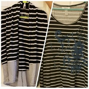 Tops - TWO XL Striped Tops